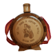 Wooden bottle with glass flask engraved for wedding 0.75l (27x21)cm