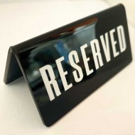 Reservations on tables of restaurants and cafes (5x10) cm