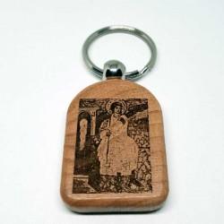 Privezak za ključeve od drveta Beli Anđeo (4.7x3.5)cm - u pakovanju