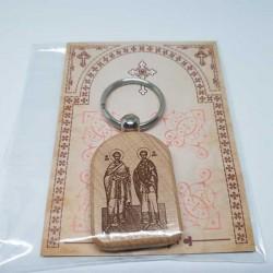 Privezak za ključeve od drveta Sveti Apostoli Petar i Pavle (4.7x3.5)cm - u pakovanju