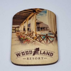 Magnet made of Wood printed in full color