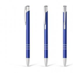 Metal Ball Pens - OGGI SLIM Engraved (0.8x13.8)cm - blue