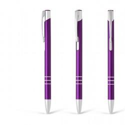 Metal Ball Pens - OGGI SLIM Engraved (0.8x13.8)cm - Purple