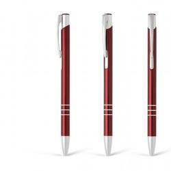Metal Ball Pens OGGI SLIM Engraved (0.8x13.8)cm - red