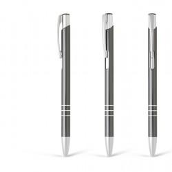 Metal Ball Pens OGGI SLIM Engraved (0.8x13.8)cm - Gun