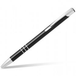 Metal Ball Pens OGGI SLIM Engraved (0.8x13.8)cm - black