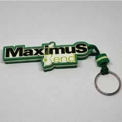 Key Pendant made of EVA foam with printed PVC film - green white green