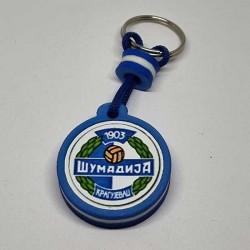 Key Pendant made of EVA foam with printed PVC film - blue white blue