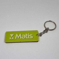 Key Pendant made of transparent double Plexiglass printed in full color