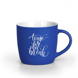BERRY SOFT Stoneware Mug 300ml Engraved - Blue
