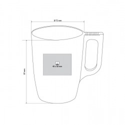 FLASHY Luminarc Mug Metallic Finish Engraved 250ml