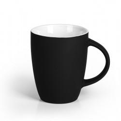 LUCIA SOFT Stoneware Mug 300ml Engraved - Black