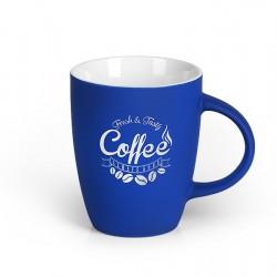 LUCIA SOFT Stoneware Mug Cup 300ml Engraved - Blue