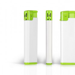 FRESH Electronic Plastic Lighter with Print (8x2.5x1)cm - Kiwi