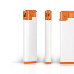 FRESH Electronic Plastic Lighter with Print (8x2.5x1)cm - Orange