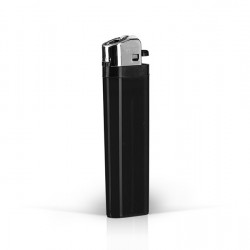 DOMINO Plastic Flint Lighter with Print (8.1x2.4x1.2)cm - Black