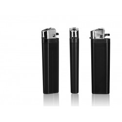 DOMINO Plastic Flint Lighter with Print (8.1x2.4x1.2)cm - Black