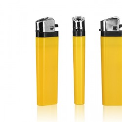 DOMINO Plastic Flint Lighter with Print (8.1x2.4x1.2)cm - Yellow