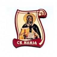 Drveni Blagoslov Sveti Prorok Ilija sa Molitvom za Vozače (6.2x4.9)cm