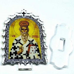 Plexiglass Icon St. Basil of Ostrog with Pedestal (6.2x3.9)cm
