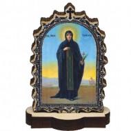 Wooden Icon St. Petka - Paraskeva with Pedestal (6.2x3.9)cm