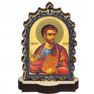 Wooden Icon St. Luka with Pedestal (6.2x3.9)cm