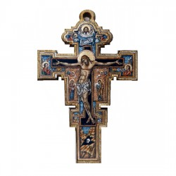 Color wooden cross (3.7x2.9)cm