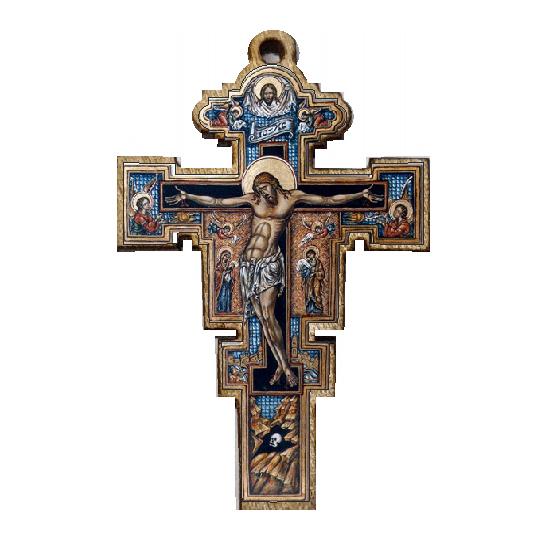 Color wooden cross (3.7x2.9)cm