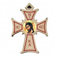 Color Wooden Cross (3.2x2.3)cm