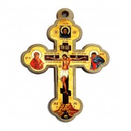 Color wooden cross (3.5x2.5)cm