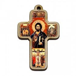 Color wooden cross (3.6x2.4)cm