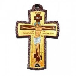 Color wooden cross (3.6x1.9)cm