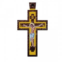 Color wooden cross (3.7x2)cm