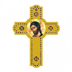 Color wooden cross (3.6x2.6)cm