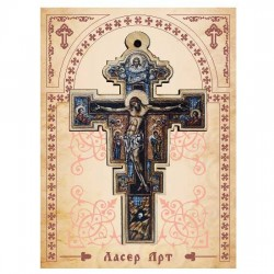 Wooden Cross for Car in Color  (8.22x5.3)cm