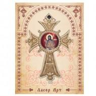 Wooden Cross for Car St. John the Baptist (7.6x5.3)cm