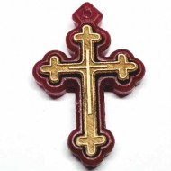 Wooden cross with polystyrene frame (3.6x2.3)cm
