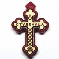 Wooden cross with polystyrene frame monastery Studenica (3.6x2.3)cm