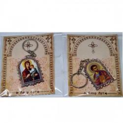 Plexiglas Key Pendant St. Basil of Ostrog (4.7x3.5)cm - in the package