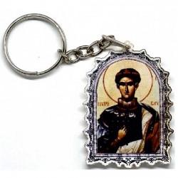 Plexiglas Key Pendant St. Demetrius (4.7x3.5)cm