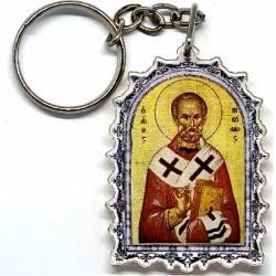 Plexiglas Key Pendant St. Nicholas (4.7x3.5)cm
