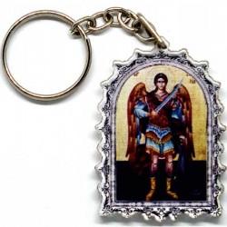 Plexiglas Key Pendant St. Archangel Michael (4.7x3.5)cm