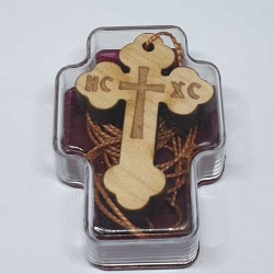 Wooden Engraved Cross (3.6x2.5)cm - in the box