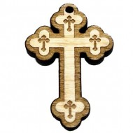 Wooden Engraved Cross (3.6x2.5)cm