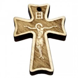 Wooden Engraved Cross (3.3x2.4)cm - in the box