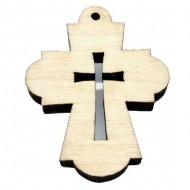 Wooden Engraved Cross (3.6x2.8)cm