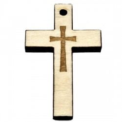 Wooden Engraved Cross (3.6x2.4)cm