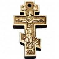 Wooden Engraved Cross Russian (3.6x2.5)cm