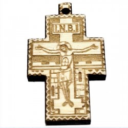 Wooden Engraved Cross (3.5x2.2)cm