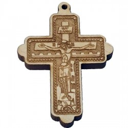 Wooden Engraved Cross (5.8x4.8)cm